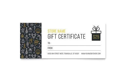 Christmas | Gift Certificate Templates | Holiday & Seasonal