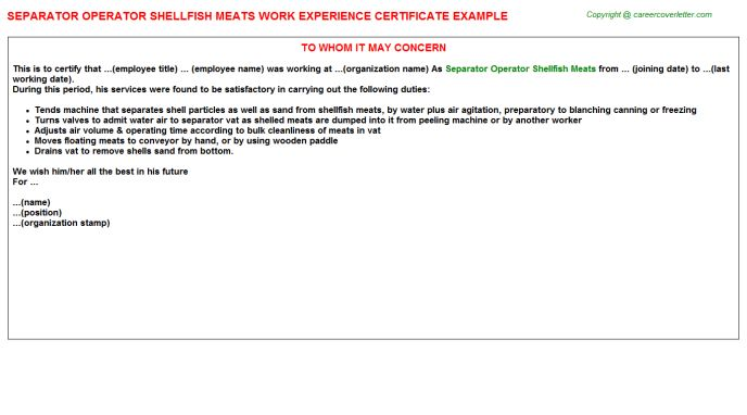 Ats Work Experience Letters