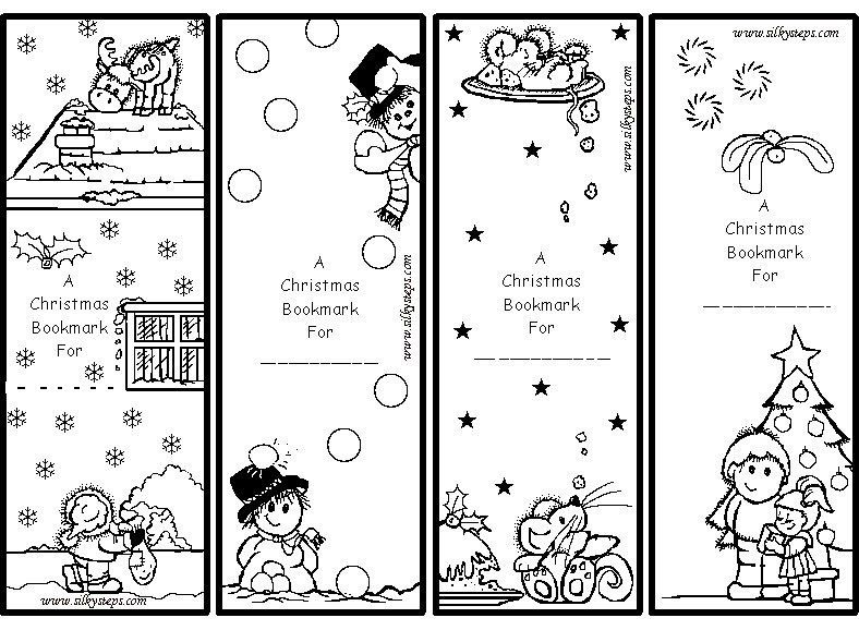 color me gift bookmarks for kids printable | christmas | Pinterest ...
