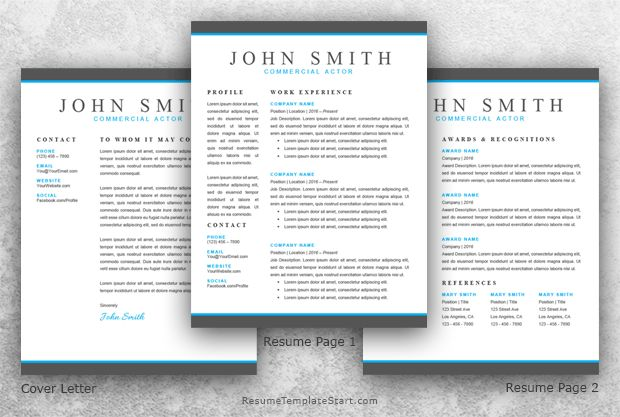 Actor Resume Template Word - Resume Template Start