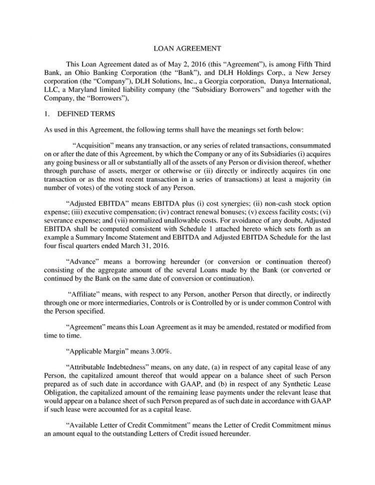 Business Associate Agreement Template Business Loan Agreement ...