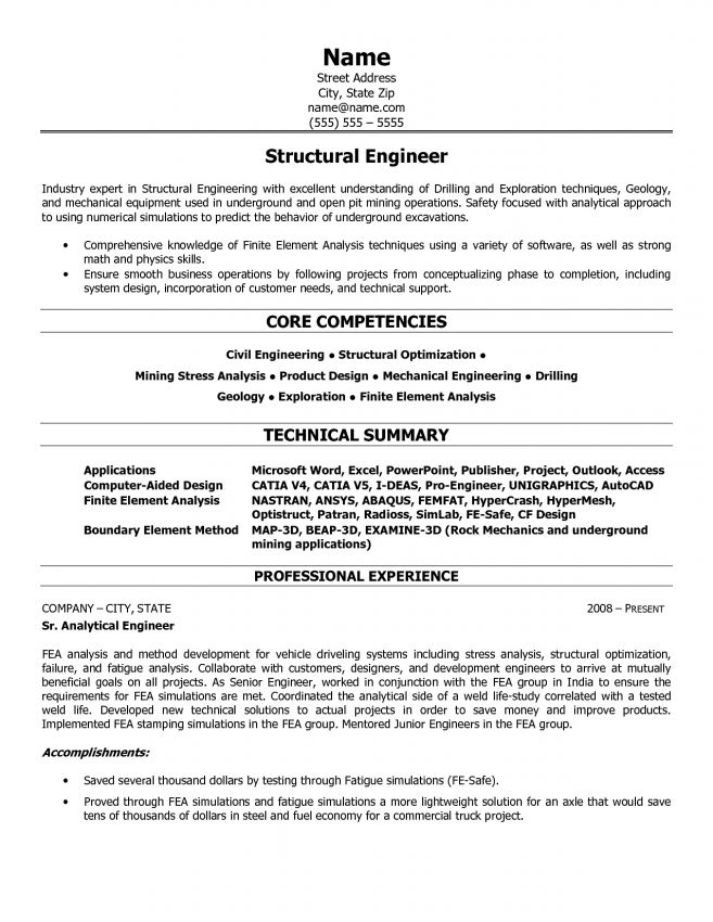 8 Structural Engineering Resume Resume mechanical structural ...