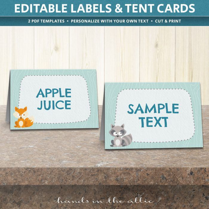 Table Place Cards Template | Printable Tent Cards | Hands in the Attic