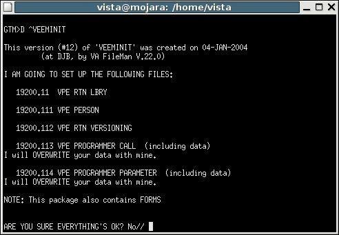 Victory Programmer Environment (VPE) Installation - VistApedia