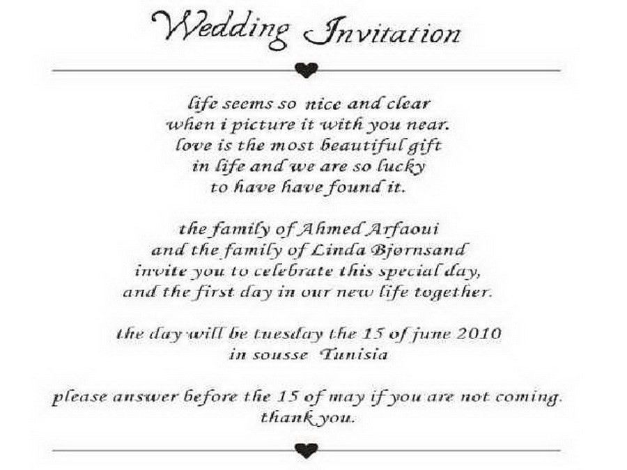 Excellent Invitation Cards Wordings For Marriage 27 On Email ...