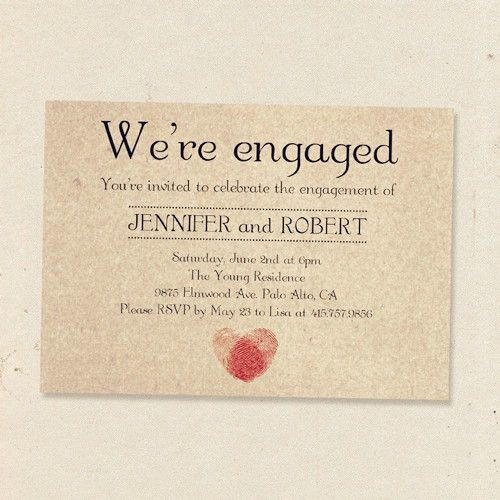 Engagement Party Invitations |