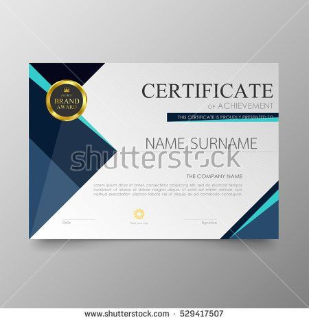 Certificate Appreciation Template Cool Geometric Design Stock ...