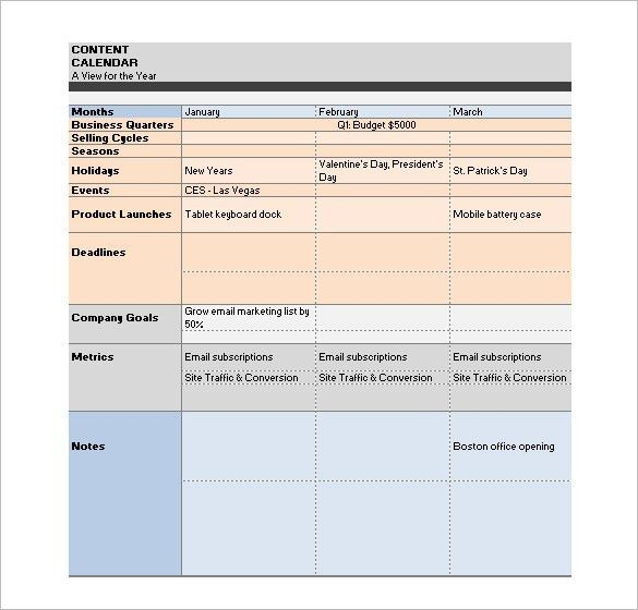 Media Schedule Template – 7+ Free Sample, Example Format Download ...