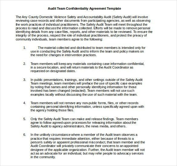 32+ Word Confidentiality Agreement Templates Free Download | Free .