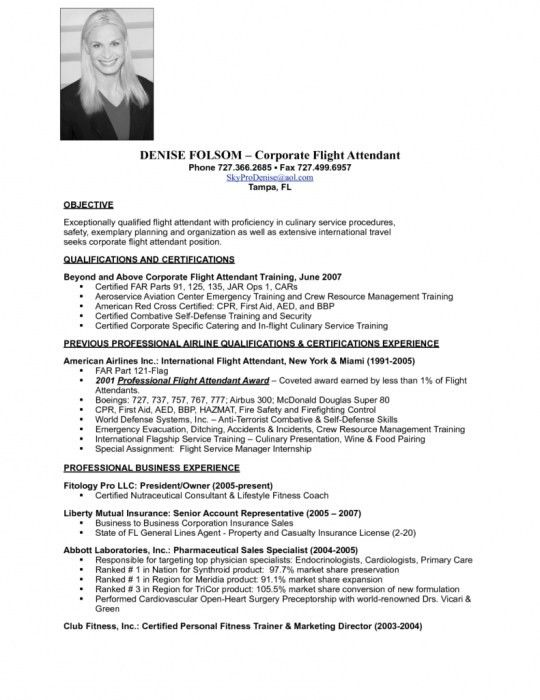 Resume Flight Attendant [Template.billybullock.us ]