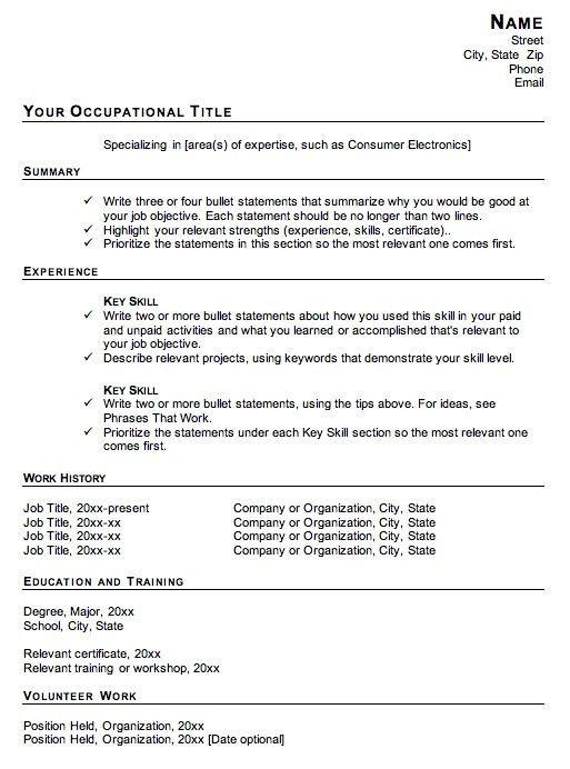 Career Change Resume Sample | jennywashere.com