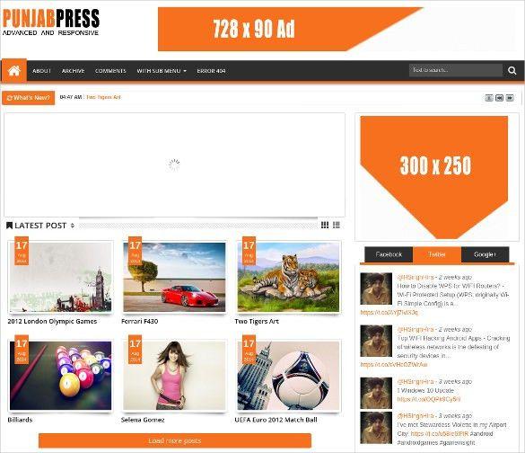 20+ Free Blog Themes & Templates | Free & Premium Templates