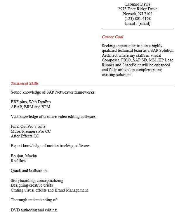 senior sap project managersenior sap architect resume. marius ...