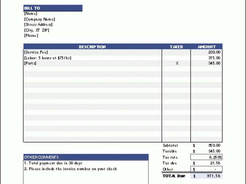 Download Donation Invoice Template Word | rabitah.net