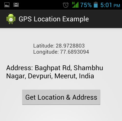 Android GPS, Location Address using Location Manager Tutorial ...