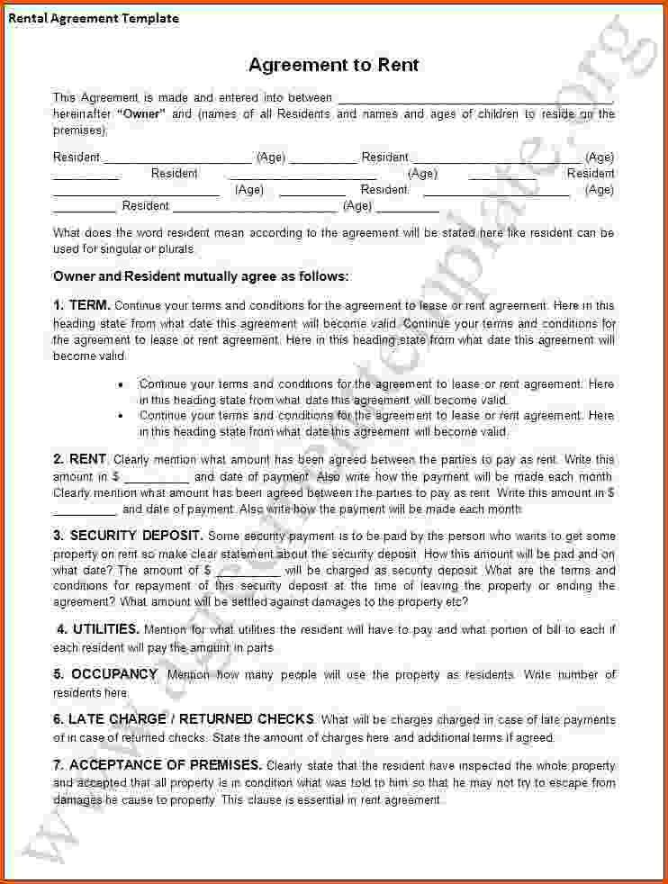 8+ free lease agreement template word | Survey Template Words