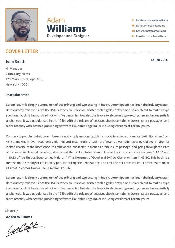 21+ Cover Letter - Free Sample, Example, Format | Free & Premium ...