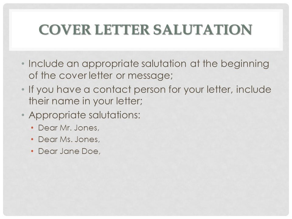 Cover Letter Salutation Image Titled Write A Cover Letter For A - Cover letter salutations