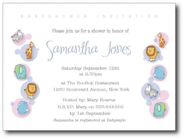 Wording For Baby Shower Invitation - marialonghi.Com
