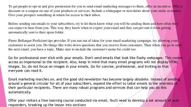 Pierre bellanger great ideas to help you be a success at email market…
