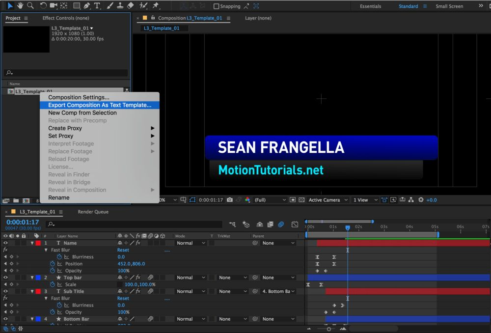 Live Text Templates with After Effects & Premiere Pro CC 2017 ...