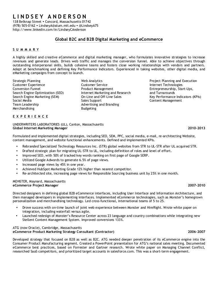 Lindsey a resume