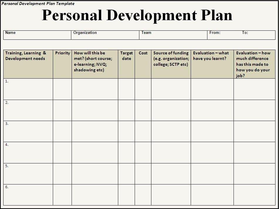 Professional Development Plan Template - vnzgames