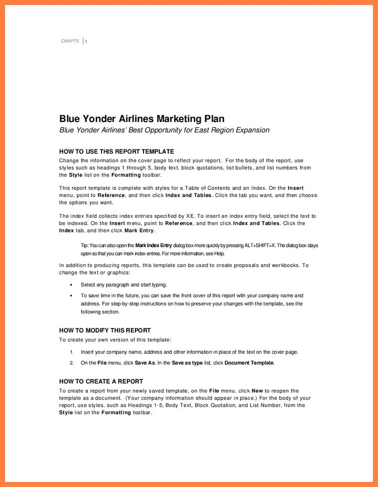 business report title page template