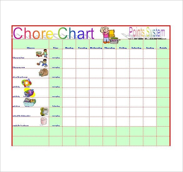 Chore List Template - 10+ Free Word, Excel, PDF Format Download ...