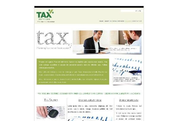 Accounting Tax Services Web Template Pack from Serif.com
