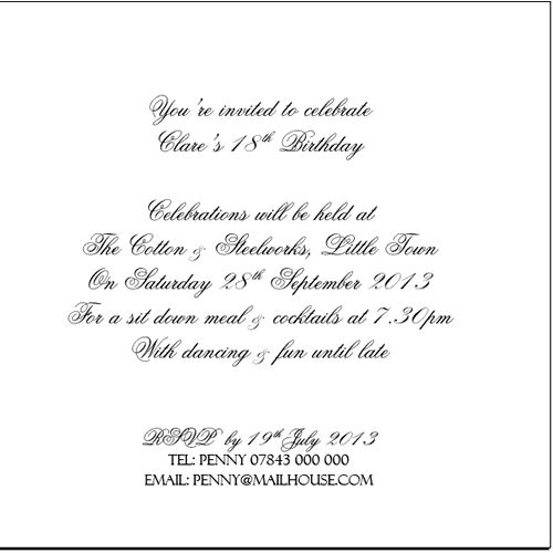 Luxury Snowflake Invitations for Birthday party celebrations ...