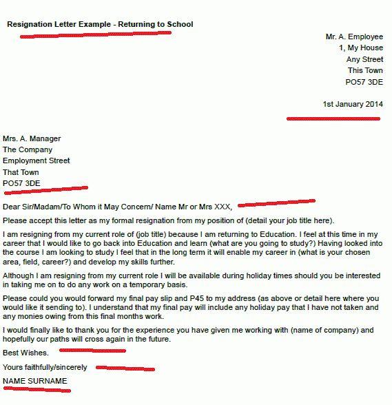 Resignation Letter Format: Best Example Resignation Letter For ...