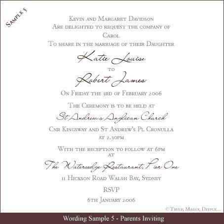 Sample Wedding Invitation Wording   christmanista.com