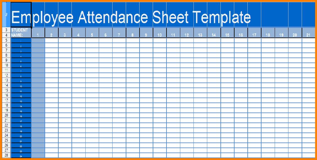 8+ excel attendance template | resume reference