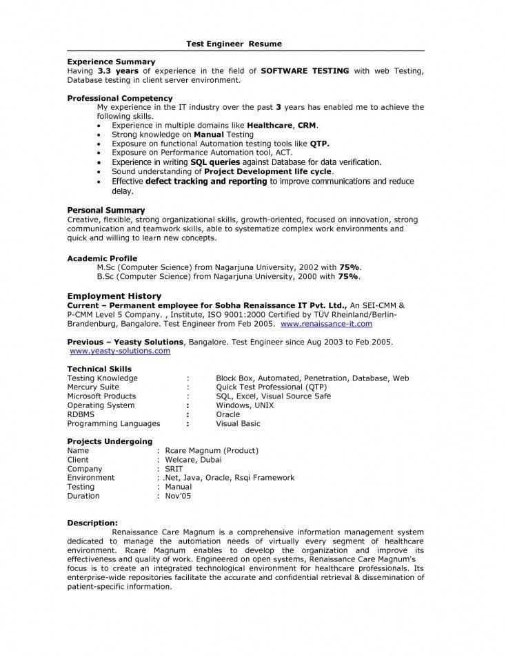 manual testing resume samples 01 testing fresher resume manual