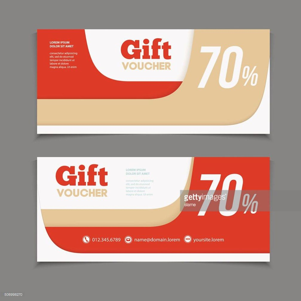 Gift Or Discount Voucher Template With Modern Design Vector Art ...