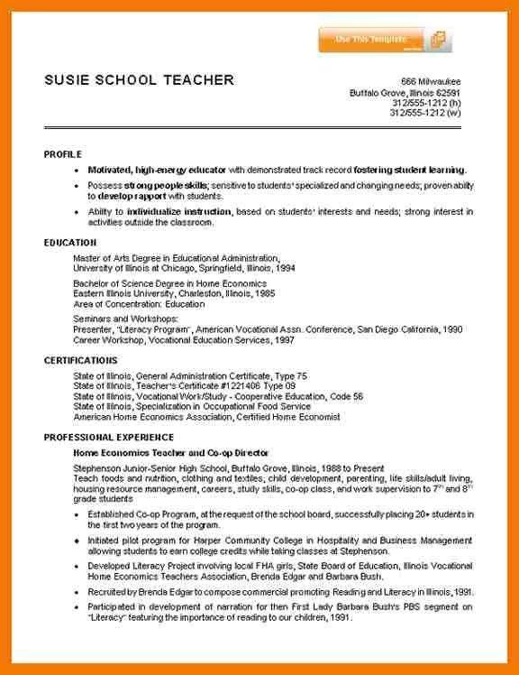 7+ example of resume for teacher | mailroom clerk