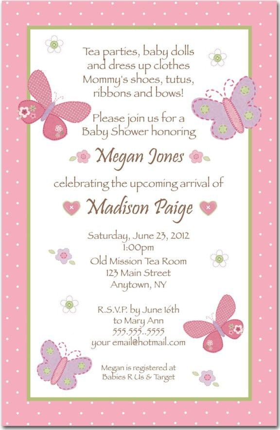 Baby Shower Invitation Wording For A Girl | christmanista.com