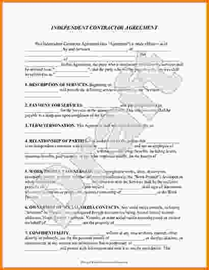 Contractor Agreement Form.Sample Contract For Sale And Purchase ...