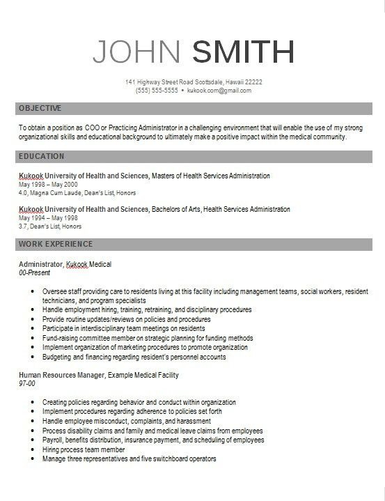 Download Example Of Modern Resume | haadyaooverbayresort.com