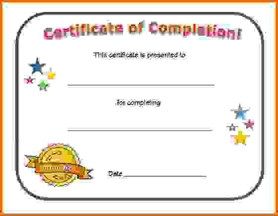 printable certificate of completionReference Letters Words ...