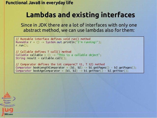 Functional Java 8 in everyday life