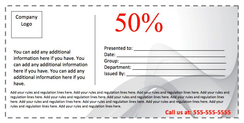 Business Coupon Template – Coupon Templates