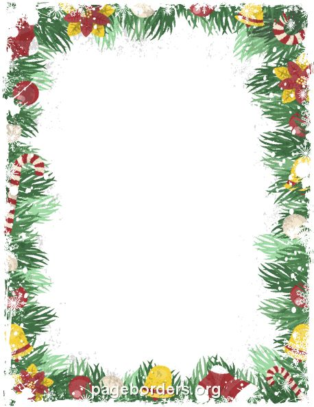 Printable vintage Christmas border. Use the border in Microsoft ...
