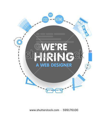 We Hire Designer Megaphone Concept Vector Stock Vector 599176253 ...