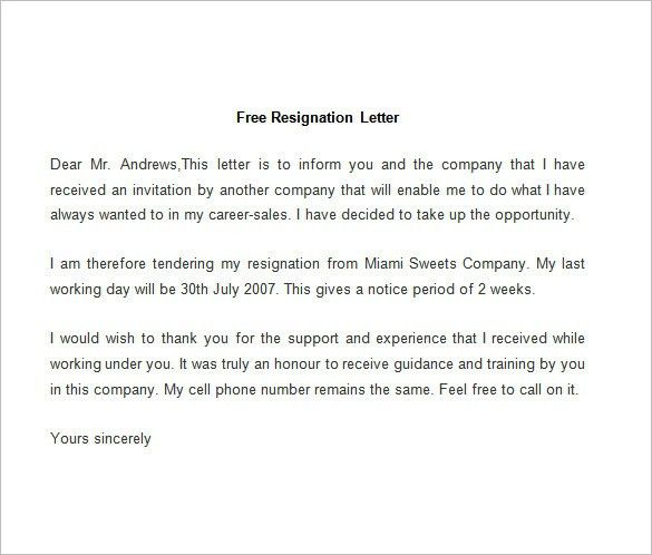 1000 Ideas About Resignation Sample On Pinterest Resignation ...