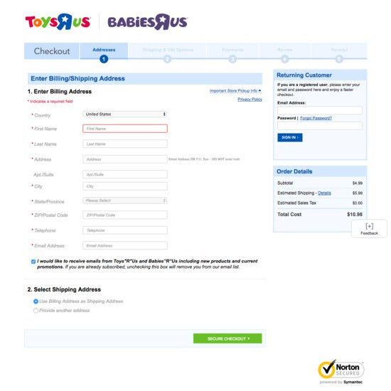 49 Examples of 'Shipping address' Checkout Steps - Usability ...