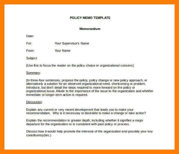 9+ formal memo format | protect letters