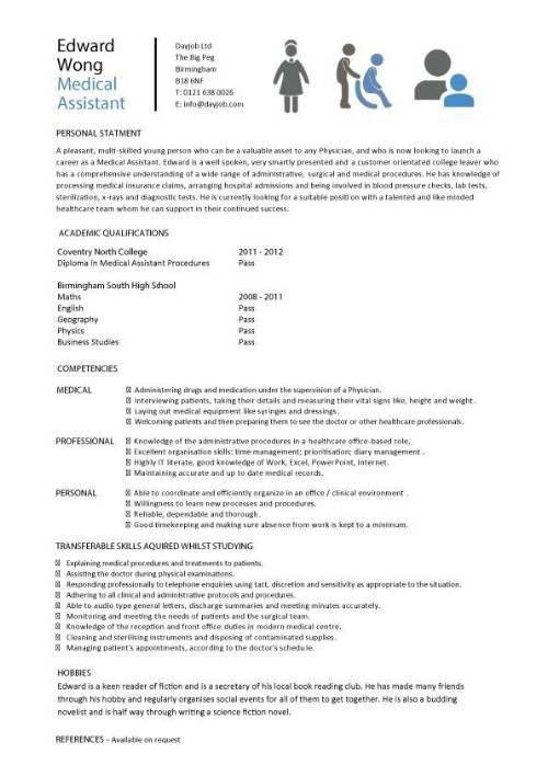 medical cv template doctor nurse cv medical jobs curriculum vitae ...