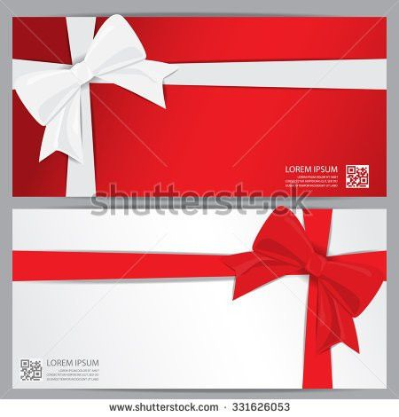 Christmas New Year Gift Voucher Certificate Stock Vector 342574730 ...